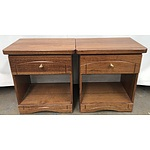 Pair of Timber Side Tables