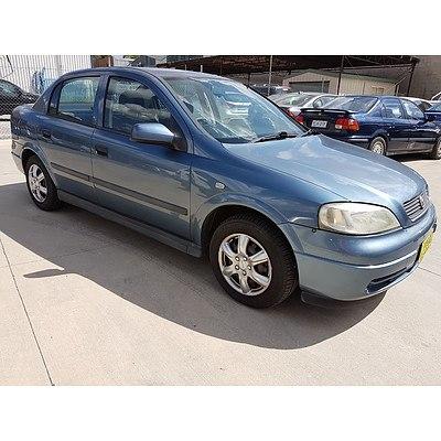 10/2001 Holden Astra CITY TS 4d Sedan Blue 1.8L