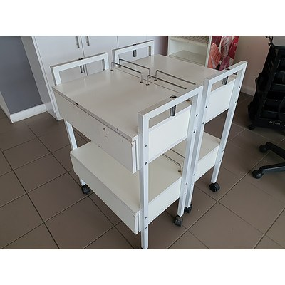 Portable Laminate Treatment Trolleys - Lot of 2