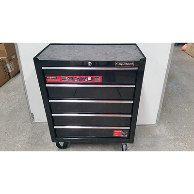 Supertool Five Drawer Mobile Tool Chest