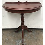 Timber Semi Circular Hall Table