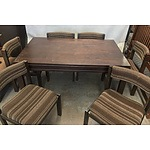 Seven Piece Living Room Foldable Dining Suite