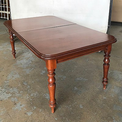 Antique Style Cedar Two Leaf Extension Table, Late 20th Century