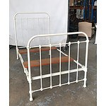 Antique Iron Single Bed Frame - No Slats