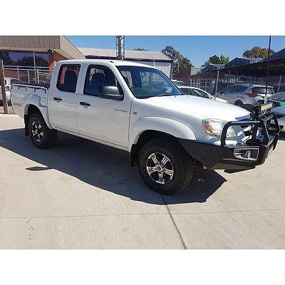 9/2009 Mazda BT50 B3000 DX (4x4) 08 UPGRADE Dual Cab P/up White 3.0L