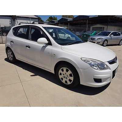 1/2008 Hyundai I30 SX 1.6 CRDi FD 5d Hatchback White 1.6L