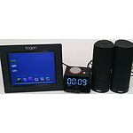Digital Photo Frame, Clock Radio and Dell Multimedia Speakers
