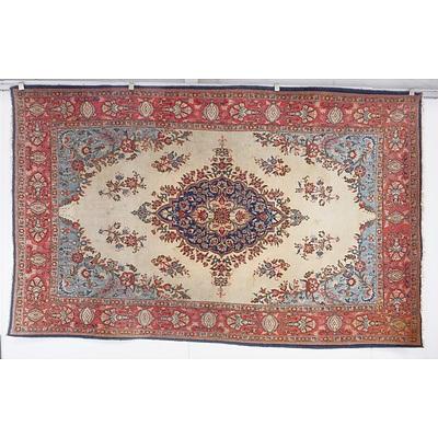 Persian Hand Knotted Wool Pile Kerman Carpet
