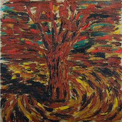 Jonathan Throsby (1957-) Tree, 1984, Oil on Canvas