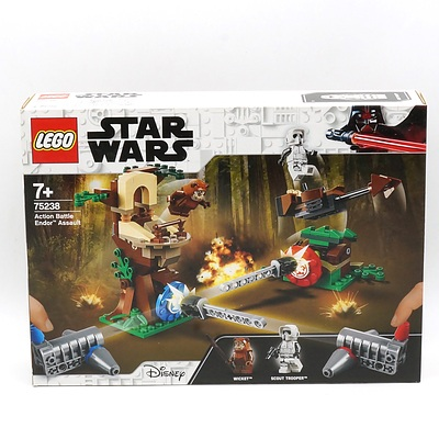 Star Wars Lego 75238 Action Battle Endor Assault, New