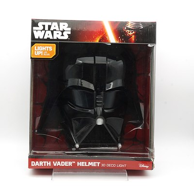 Star Wars Darth Vader Helmet 3D Deco Light, New