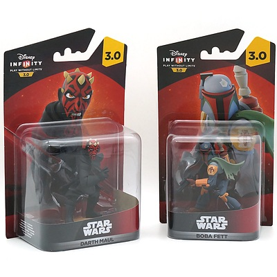 Disney Infinity Star Wars Darth Maul and Bob Fett, New