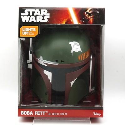 Star Wars Boba Fett 3D Deco Light, New