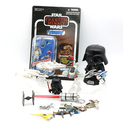 Group of Star Wars Models, Including Hot Wheels, Kenner, Funko and More