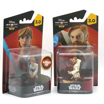 Disney Infinity Star Wars Luke Skywalker and Obi-wan Kenobi, New