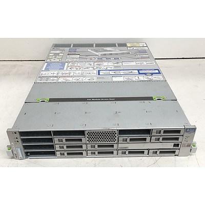 Sun SPARC Enterprise T5240 (Sun UltraSPARC T2) 1.60GHz CPU 2 RU Server