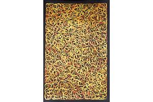Jeannie Petyarre (c.1957-) Mountain Devil Lizard, Acrylic on Linen
