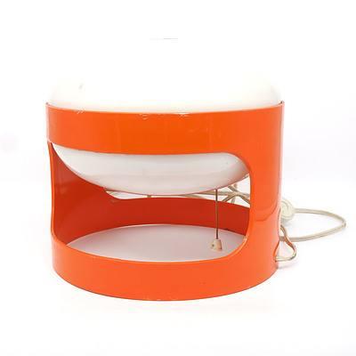 KD27 Orange Table Lamp by Joe Colombo Circa 1960
