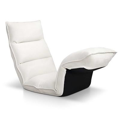 Lounge Sofa Chair - 375 Adjustable Angles - Ivory - Brand New