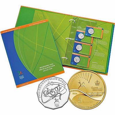 Australia 2006 Melbourne Games Coin Set In Album