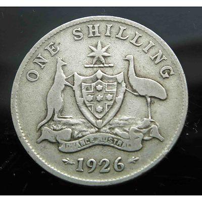 Aust: George V 1926 Silver Shilling