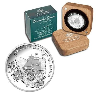 Australia 2004 $5 Silver Proof Coin - Tas Bicent