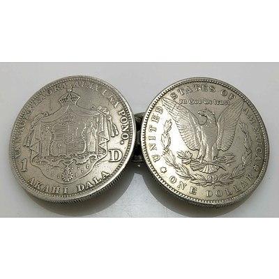 Vintage/Antique Us-Hawaiian Coin Buckle