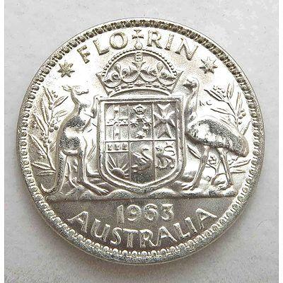 Aust: Silver Florin 1963