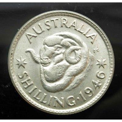 Aust: Silver Shilling 1946 Melbourne