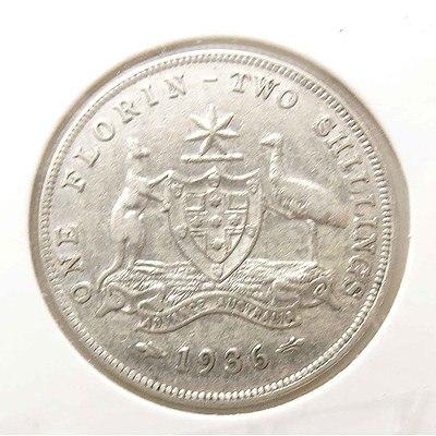 Aust: Silver George V Florin 1936