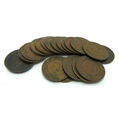 Collection Of Australian George V (1911-1936) Pennies