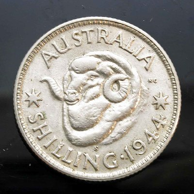 Aust: Sterling Silver Shilling 1944S