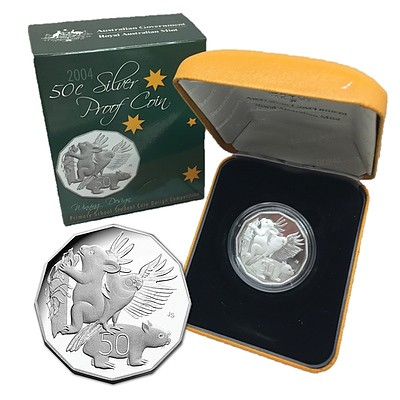 Australia 2004 Proof Silver 50 Cent Coin