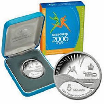 Australia 2006 Silver Proof $5 Melbourne Games
