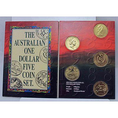 Australia One Dollar Five Coin Set