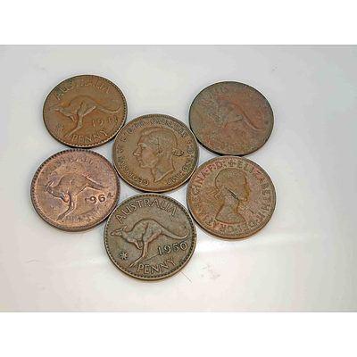 Australia: Mint Flaw Pennies