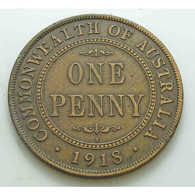 Australia: Geo V Penny 1918