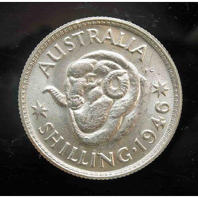 Australia: Silver Shilling 1946 Melbourne