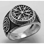 Sterling Silver Celtic & Viking Vegrisir Ring