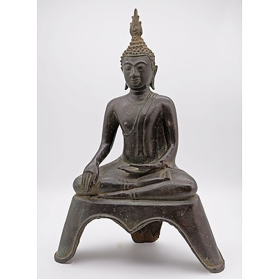 Cast Bronze Buddha, Probably Thai, 20th Century