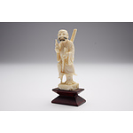 Chinese Carved Ivory Figure of a Sennin, Early to Mid 20th Century