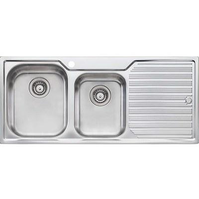 Oliveri HN111 1TH Melbourne 1 & 3/4 Bowl Flushline Sink With Drainer - RRP $599.00 - Brand New