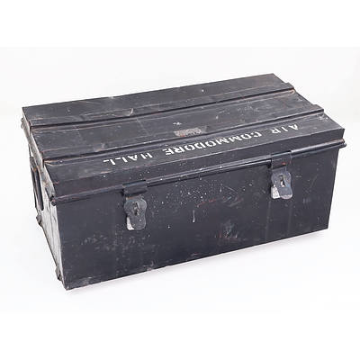 """RAF Officer's Field Trunk Marked """"Air Commodore Hall"""""""