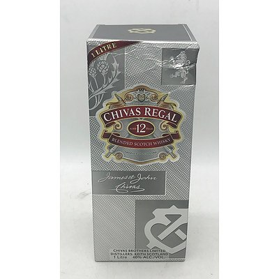 Chivas Regal 12 Year Old Blended Scotch Whiskey 1L