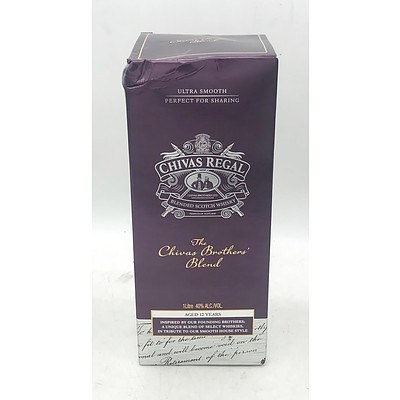 Chivas Regal Brothers Blend 12 Year Old Blended Scotch Whisky 1L