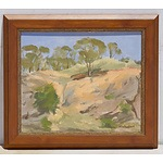 A Brother Don Gallagher (1925-2017) Framed Oil on Board, 'Binalong' 1975