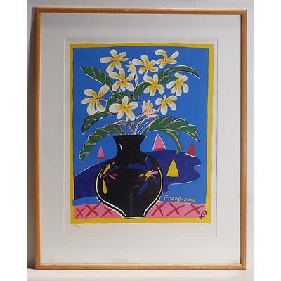 Ken Done (b1940-) Frangipani, Limited Edition Screen Print 148 of 665
