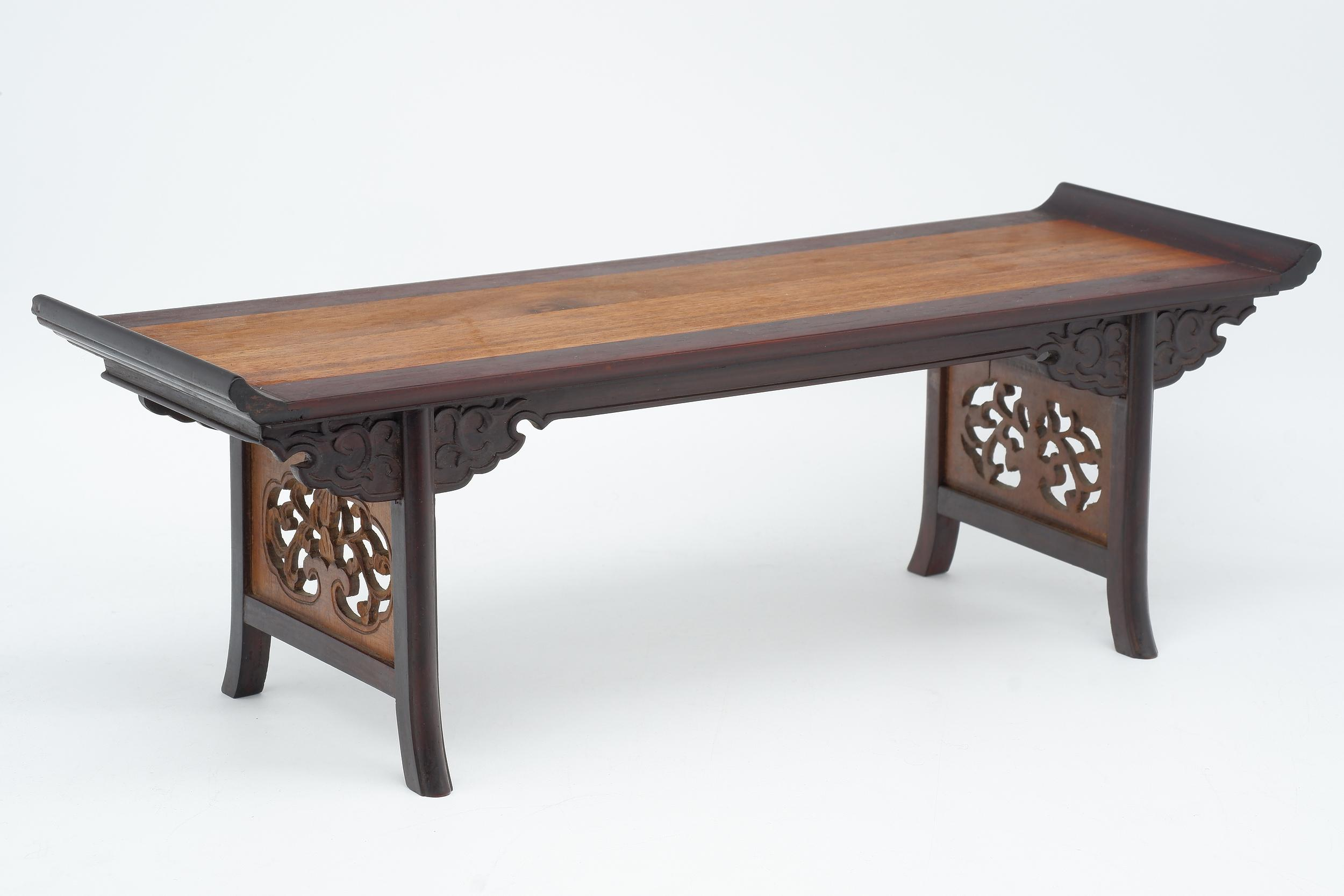 'Miniature Chinese Carved Rosewood Altar Table, 20th Century'