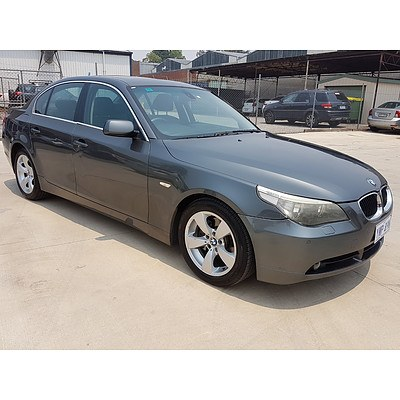 8/2005 BMW 530i E60 4d Sedan Grey 3.0L