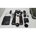 Vintage Pentacon Praktica Digital and Film Photography Camera Body and Lenses
